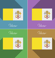 Flags Vatican CityHoly See Set of colors flat vector image
