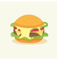 funny cartoon burger vector image vector image