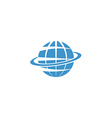 Globe mockup logo blue symbol of Earth internet or vector image vector image