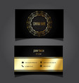 gold and black business card 0505 vector image