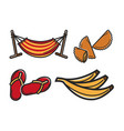 hammock and different food vector image vector image