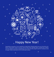 happy new year poster template with text vector image
