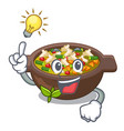 have an idea minestrone plate above mascot vector image