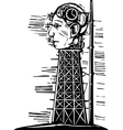 Head Tower vector image vector image