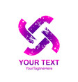 initial letter t tt logo template colorful vector image vector image