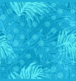 ink hand drawn jungle seamless pattern with palm vector image vector image