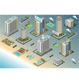 Isometric Seaside Buildings vector image vector image