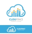 logo combination of a cloud and financial vector image vector image