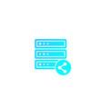 mainframe server shared hosting vector image vector image