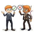Man with a devils advocate vector image