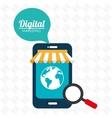marketing digital smartphone store vector image