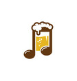 music beer logo icon design vector image