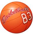 orange 3d basketball sports equipment vector image vector image