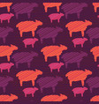 orange purple and pink colorful baby sheep vector image