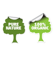 organic labels vector image vector image