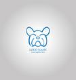 outline bulldog logo concept vector image vector image