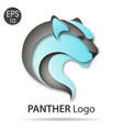 panther logo color vector image