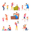 parents and kids children good time in happy vector image vector image