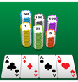 Poker table vector image vector image