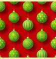 realistic christmas seamless pattern vector image vector image
