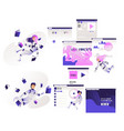 research and analysis information set isolated vector image vector image