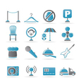 restaurant and night club icons vector image vector image