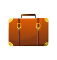 retro leather suitcase traveler luggage travel vector image vector image