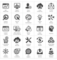 SEO and Development flat icon set vector image