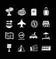set icons travel and tourism vector image