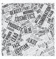 Skin Products Through the Centuries text vector image vector image