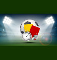 soccer ball on the field of the stadium vector image