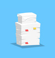 stack papers vector image vector image