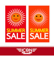 summer sale sun sign vector image