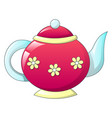 tea pot retro icon cartoon style vector image