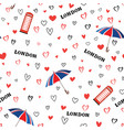 travel london city seamless pattern with love vector image vector image