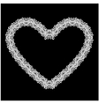 White Heart shape is made of lace doily isolated vector image vector image