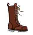 woman s brown leather boots vector image