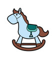 wood rocking horse baby or shower related ico vector image