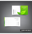 Business Card template set 026 Green clean and vector image