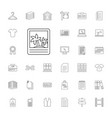 33 blank icons vector image vector image