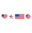 american flag icon usa patriot with star and vector image