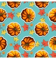 Autumn Leaves And Pupmkins vector image