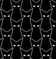 Black cat seamless pattern backgrounds for vector image vector image