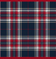blue and red tartan plaid scottish pattern vector image vector image