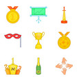 bonus icons set cartoon style vector image vector image