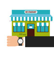 building place restaurant menu vector image vector image