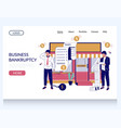 business bankruptcy website landing page vector image vector image