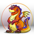cartoon red dragon vector image