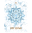 Christmas Poster Big Snowflake on Ice Background vector image vector image