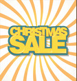 christmas sale text on retro background vector image
